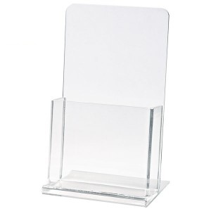 "Clear Countertop Brochure Holder (4 1/4""x9""x1 1/2"" Insert)"