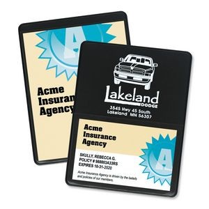 Single Panel Proof of Insurance Holder w/ Business Card Pocket